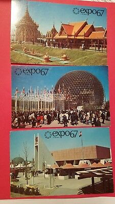 16 Vintage Postcards From Expo '67 Montreal, Canada. World's Fair