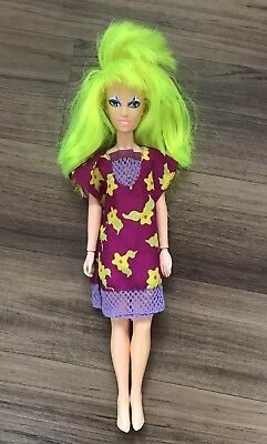 Vintage Jem And The Holgrams Doll, Pizzazz Misfit, Outta My Way Outfit Dress 80s