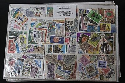 500 Different Worldwide Stamps (as illustrated)