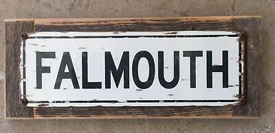 Falmouth Maine New England Coast Lobster Vintage Framed Road Sign Home Decor