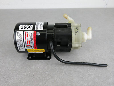 March MFG 115V 1/15HP 2.3A 3000RPM Magnetic Drive Chemical Pump