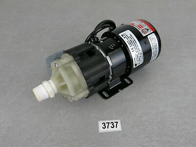 March MFG AC-3C-MD 230V 1/15HP 2500/3000RPM Magnetic Drive Chemical Pump