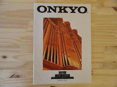 Vintage 90' - Catalogue ONKYO 1996-1997