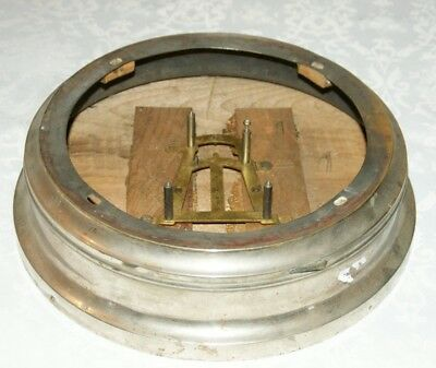 1880's E.N. Welch METAL LEVER 30 Hour & 8 Day - Empty Nickel Clock Case ,