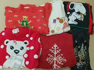 ~ 08 ~ Vintage ~ Job Lot ~ Faulty ~ Knitwear ~ Christmas ~ Jumpers ~ 4 Colours ~