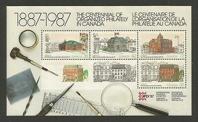 CANADA #1125A, MNH-F-VF: Capex '87--Post Office buildings