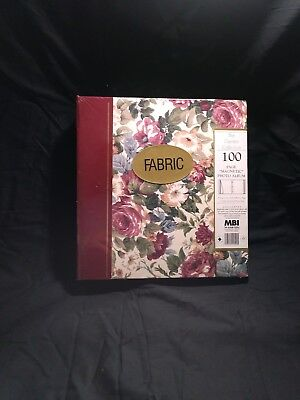Magnetic Self-Stick 3-Ring Photo Album 100 Pages (50 Sheets), Floral Facric