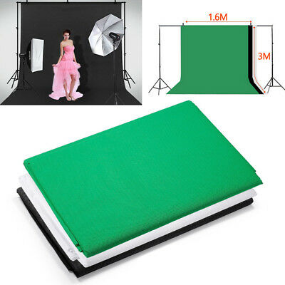 Green Background Studio Photography White Black Backdrop Photo Screen 5X10 Stand