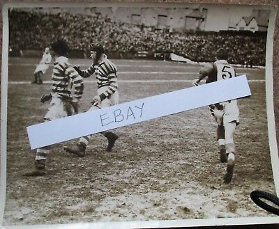 Original press photograph of the 1939 Challenge Cup Semi Final Salford v Wigan