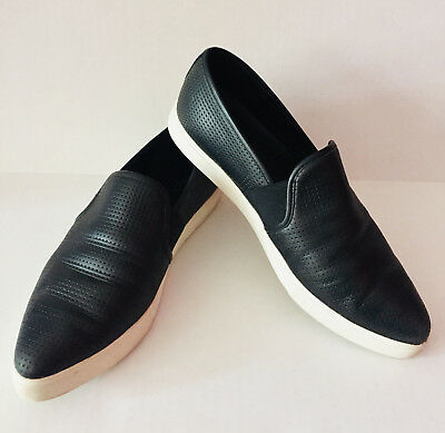 82f251a31bb6 VINCE Blair Slip-On Sneaker Leather Perforated Black Women s Size 9