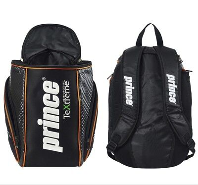 Prince Textreme Pro Tennis Backpack Bags Sports Unisex Casual Bag Black Red Blue