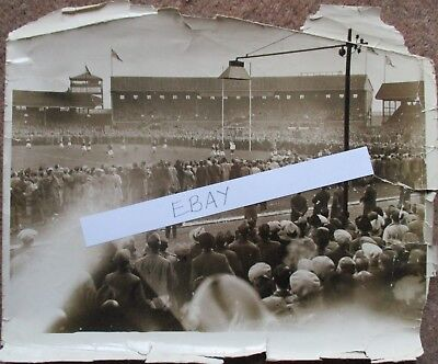 Original press photograph of the 1938 Challenge Cup Semi Final Salford v Swinton