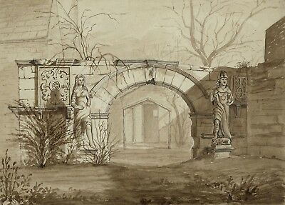 George Corson, Garden Arch, Knostrop Old Hall, Leeds - 1852 watercolour painting