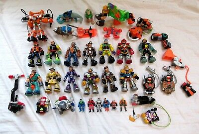 Lot of 30+ FISHER PRICE/MATTEL Rescue Heroes Action Figures & Accessories (used)