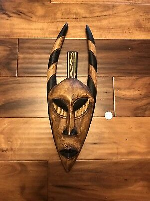 Wooden African Tribal Mask hand made in Ghana