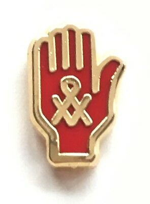 RED HAND OF Ulster with Masonic Crest Small Discreet Enamel Lapel Pin Badge