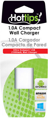 Hottips 1.0A Single Wall Charger- Carton of 4 - CASE OF 4
