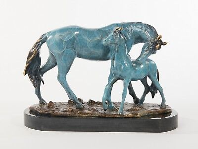 Hot Cast Stallion Horse Barn Ride Riding Bronze Sculpture Statue Figure Art Deco