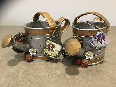 Bramble and Clover Hedgehogs And Watering Can Ornament
