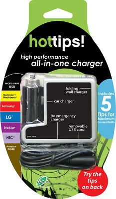 Hottips! Multi-Tip Motorola/Samsung/LG/Nokia All-In-One Charger - CASE OF 48