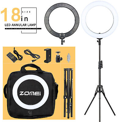 "ZOMEI18"" SMD LED Ring Light Dimmable 5500K Continuous Lighting Photo Video Kit"