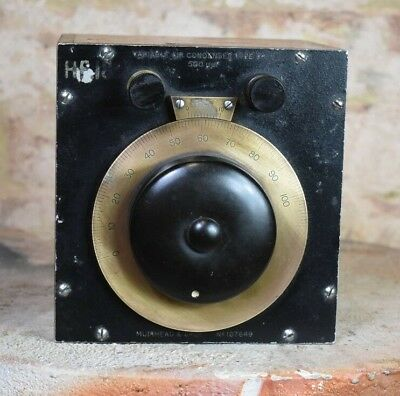 Antique Muirhead & Co Variable Air Condenser Meter Dial Device Untested
