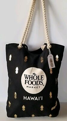 Whole Foods Hawaii Gold Pineles Tote Bag Small Inner
