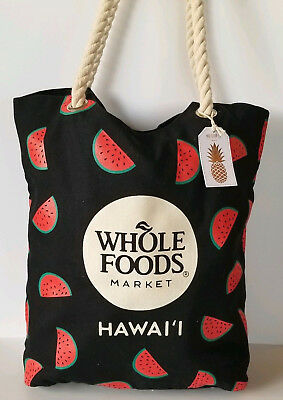 Whole Foods Hawaii Watermelon Tote Bag Small Inner Pouch
