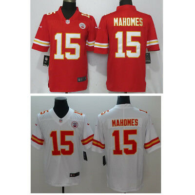 BNWT Men's Kansas City Chiefs 15# Patrick Mahomes Red&White Jersey M-3XL