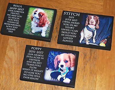 Personalised Remembrance Plaque Photo Pet Dog Friend Mum Dad Memorial Wood Sign