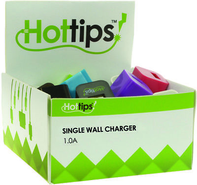 Hottips Tray Pack 1.0A Wall Charger- 24-count - CASE OF 24
