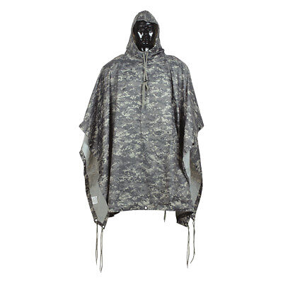 Heavy Duty Rubberized  56'' x 86'' Poncho Rain Coat Full Cut Mil-Spec Military