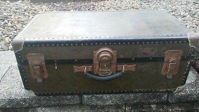 Wooden Soldiers Foot Locker Chest. Shwayder ARMY US MILITARY