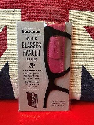 Bookaroo Magnetic Glasses Hanger for Books - Pink. Never lose your specs again!
