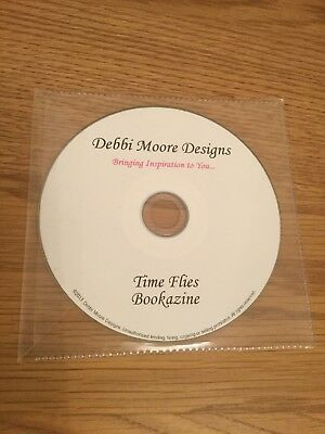 DEBBI MOORE Designs CD Rom TIME FLIES Bookazine TOPPERS Mens BARGAIN Clearout