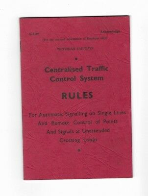 Victorian Railways Centralised Traffic Control System Rules Book 1969
