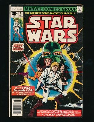 STAR WARS #1 MARVEL COMICS 7/1977 PART 1 STAR WARS: A NEW HOPE MOVIE ADAPTION a1