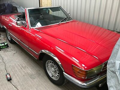 Mercedes SL500 R107 Low Miles bright red