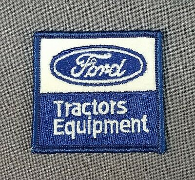 "Vintage UnUsed 2.5"" Ford Tractors Equipment Advertisement Hat Patch NICE!"