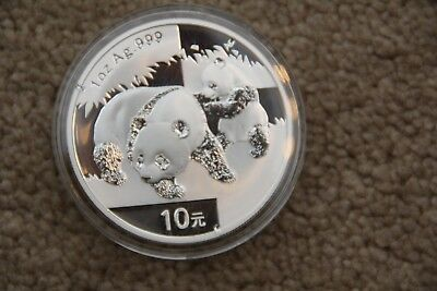 2008 1oz .999 Chinese Panda Silver Coin Mint Condition In Capsule