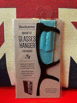 Bookaroo Magnetic Glasses Hanger for Books - Turquoise. Never lose your specs