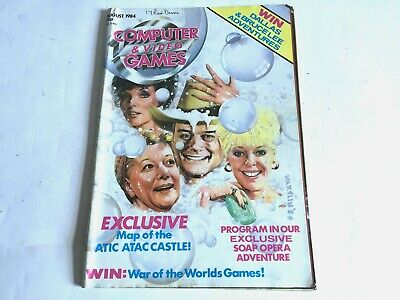 ***C&VG Computer and Video Games Magazine August 1984 Bob Waklin Cover**