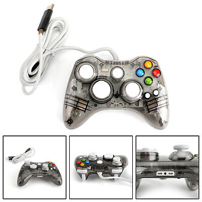 USB Wired Game Remote Controller Gamepad For Microsoft Xbox 360 PC Black US