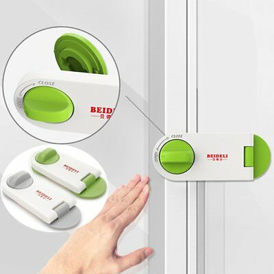Adhesive Child Kids Baby Cute Safety Lock For Door Drawers Cupboard Cabinet e8
