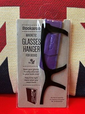 Bookaroo Magnetic Glasses Hanger for Books - Purple. Never lose your specs again