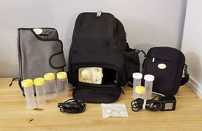 Medela Pump In Style Advanced Double Breast Pump Backpack~Cooler~Car Adapter!