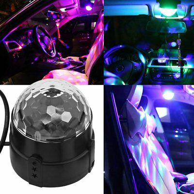2/5x RGB DJ LED Effect Rotating Light Laser Crystal Magic Ball Disco Party CluK7