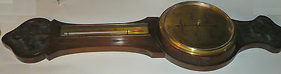 Antique Barometer Oak 33 x 9.5 inch Works, plexi face looks fine WV14 collect