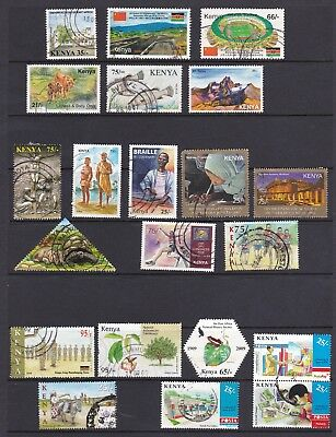 Kenya 2002-2010 USED stamp collection (inc Olympics, Tourism, POSTA , etc)