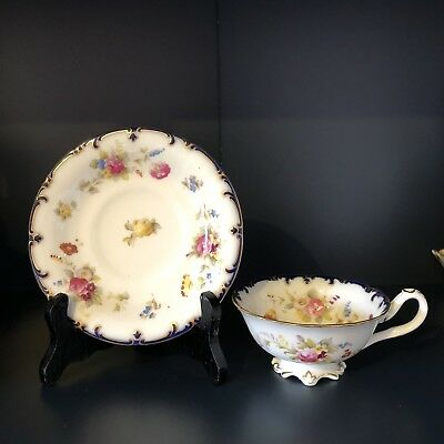 Beautiful Antique Couldon Cup And Saucer